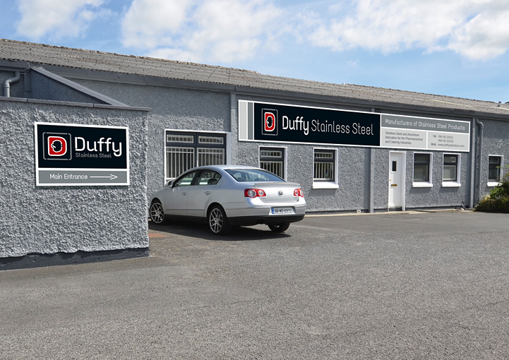 Duffy Stainless Steel sign design