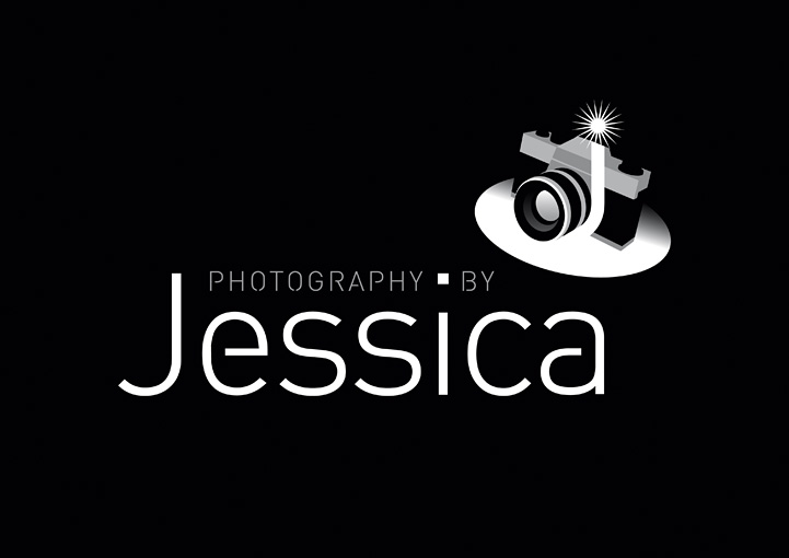 Photography by Jessica logo design refresh