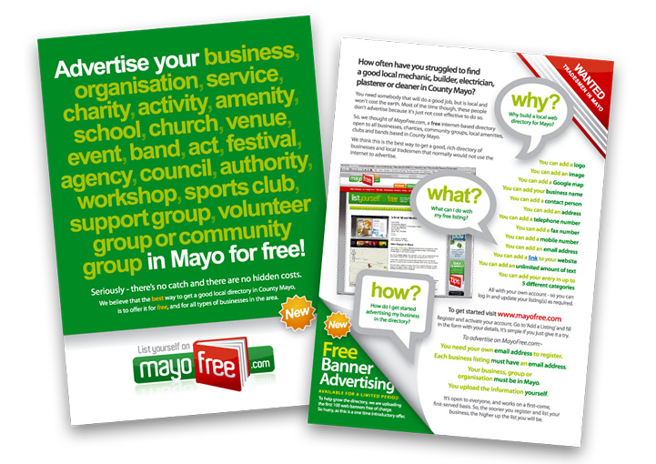 MayoFree flyer design