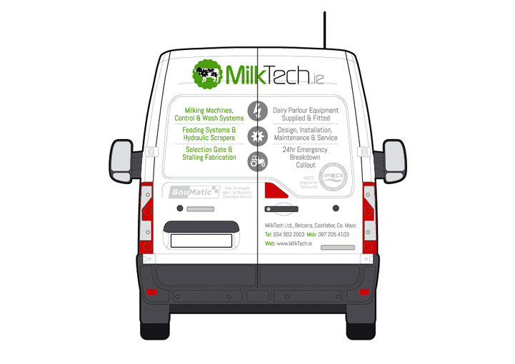 MilkTech van design back