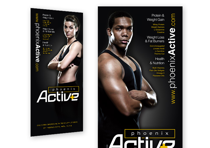 Phoenix Active roll up banner stand design