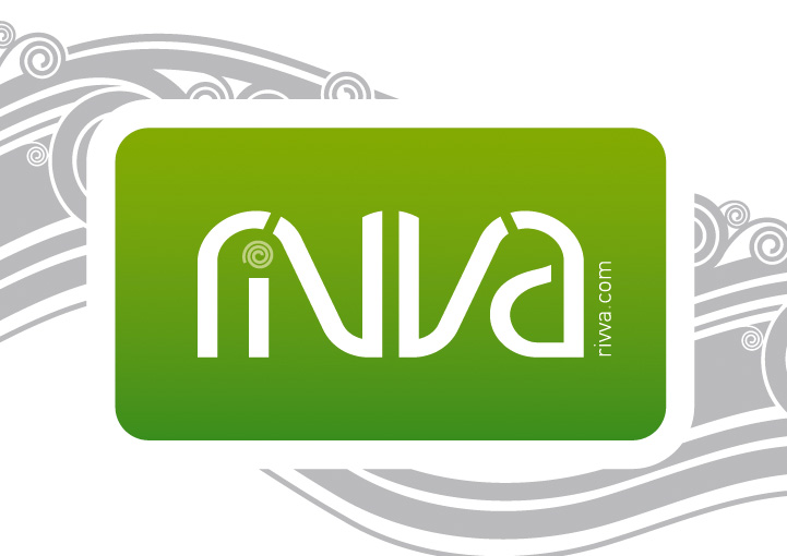 Cafe Rivva logo design