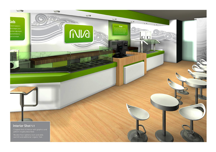 Cafe Rivva interior design