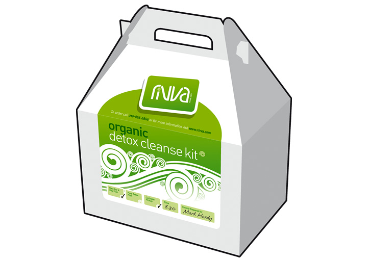 Cafe Rivva packaging design