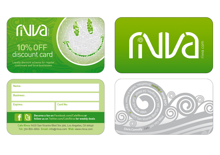 Cafe Rivva business card design