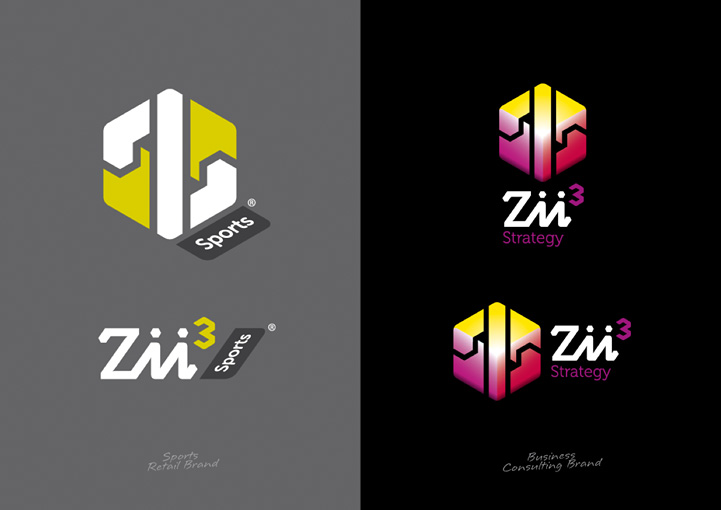 Zii3 Strategy logo design variations